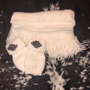Scarf and boot cuffs